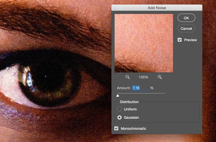 applying noise to image in photoshop