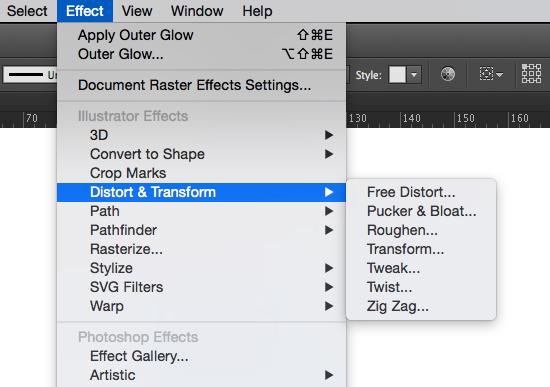 transform as an effect in illustrator