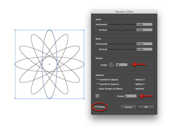 adjust rotation with transform effect