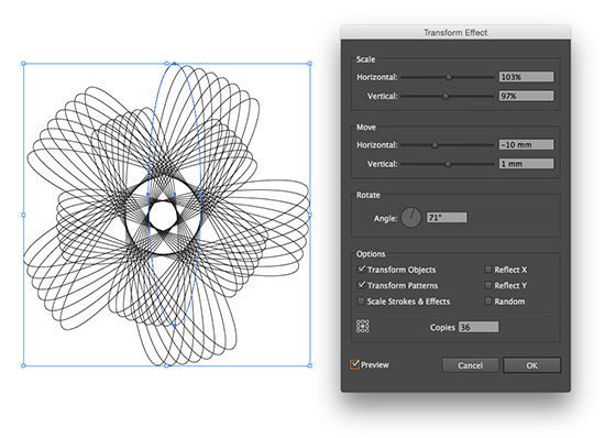 create a spirograph effect in illustrator