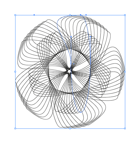 rotating and scaling an effect in illustrator