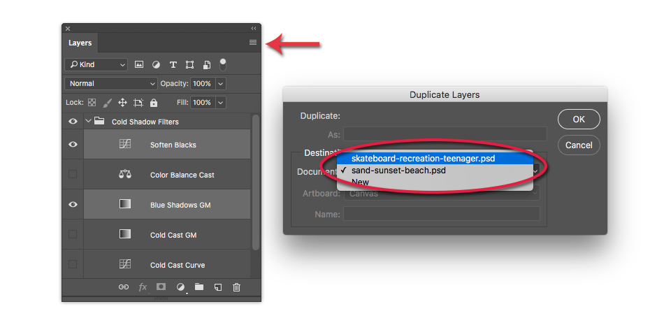 duplicate adjustment layer in photoshop
