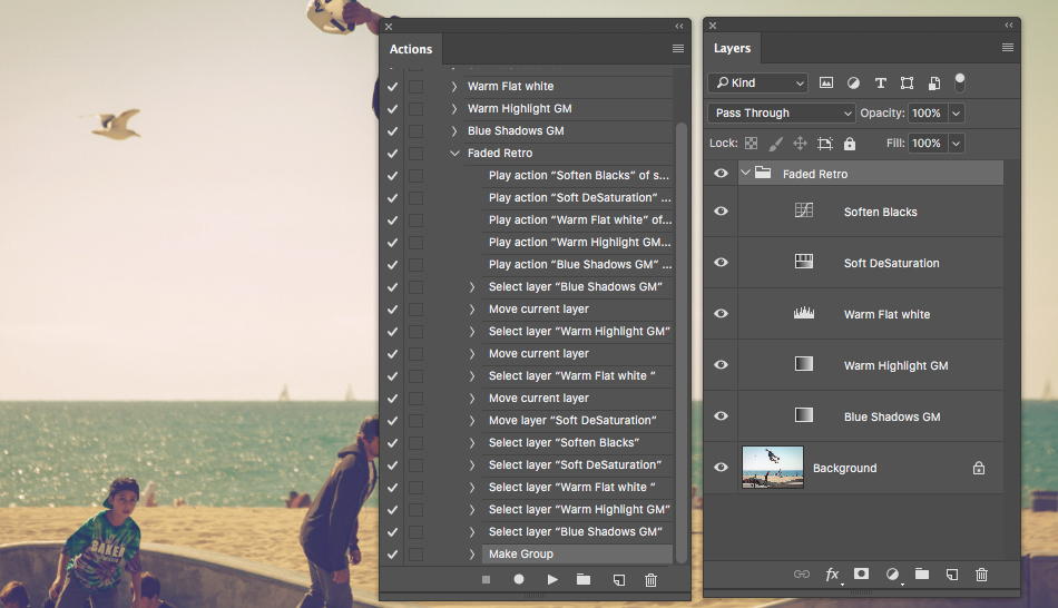 organising layers and actions in ps
