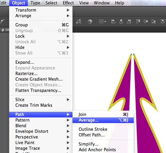 Using illustrator symetry tool